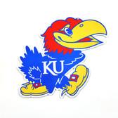 """Kansas Jayhawks 12"""" Lasercut Steel Logo Sign"""