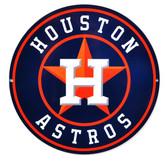 "Houston Astros 12"" Lasercut Steel Logo Sign"