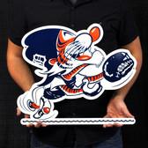 "Detroit Tigers 20"" Vintage Catcher Kitty Lasercut Steel Logo Sign"