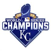 "Kansas City Royals 12"" 2015 World Series Champions Lasercut Steel Logo Sign"