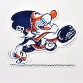 "Detroit Tigers 12"" Vintage Catcher Kitty Lasercut Steel Logo Sign"
