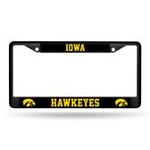 Iowa Hawkeyes  Black Chrome Frame