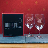 Maryland Terrapins  Set of 2 Riedel 18 OZ Red Wine Glasses