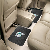 """Miami Marlins Backseat Utility Mats 2 Pack 14""""x17"""""""