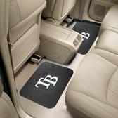 "Tampa Bay Rays Backseat Utility Mats 2 Pack 14""x17"""