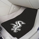 """Chicago White Sox 2-piece Carpeted Car Mats 17""""x27"""""""