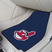 """Cleveland Indians 2-piece Carpeted Car Mats 17""""x27"""""""