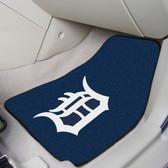 "Detroit Tigers 2-piece Carpeted Car Mats 17""x27"""