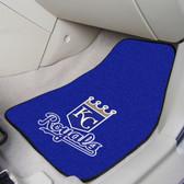 """Kansas City Royals 2-piece Carpeted Car Mats 17""""x27"""""""