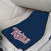 """Minnesota Twins 2-piece Carpeted Car Mats 17""""x27"""""""