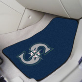 """Seattle Mariners 2-piece Carpeted Car Mats 17""""x27"""""""