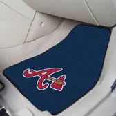 "Atlanta Braves 2-piece Carpeted Car Mats 17""x27"""