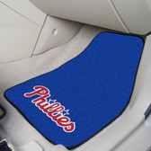 "Philadelphia Phillies 2-piece Carpeted Car Mats 17""x27"""