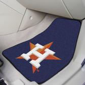 "Houston Astros 2-piece Carpeted Car Mats 17""x27"""