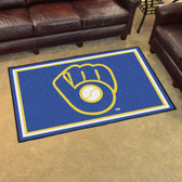 "Milwaukee Brewers ""Ball in Glove"" Rug 4'x6'"