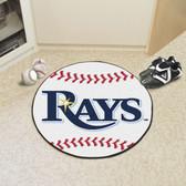 """Tampa Bay Rays Baseball Mat 27"""" diameter"""
