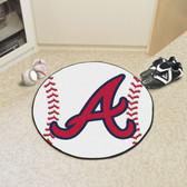 "Atlanta Braves Baseball Mat 27"" diameter"