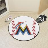 "Miami Marlins Baseball Mat 27"" diameter"