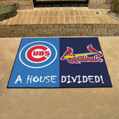 """Chicago Cubs - St. Louis Cardinals House Divided Rugs 33.75""""x42.5"""""""