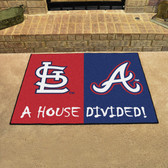 """Cardinals - Braves Divided Rugs 33.75""""x42.5"""""""