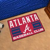 "Atlanta Braves Baseball Club Starter Rug 19""x30"""