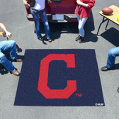 """Cleveland Indians """"Block-C"""" Tailgater Rug 5'x6'"""