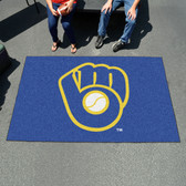 "Milwaukee Brewers ""Ball in Glove"" Ulti-Mat 5'x8'"