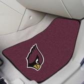 """Arizona Cardinals 2-piece Carpeted Car Mats 17""""x27"""""""