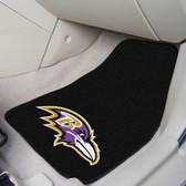 "Baltimore Ravens 2-piece Carpeted Car Mats 17""x27"""