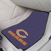 "Chicago Bears 2-piece Carpeted Car Mats 17""x27"""