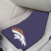"""Denver Broncos 2-piece Carpeted Car Mats 17""""x27"""""""