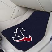 "Houston Texans 2-piece Carpeted Car Mats 17""x27"""