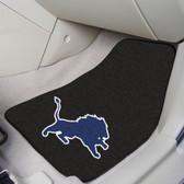 """Detroit Lions 2-piece Carpeted Car Mats 17""""x27"""""""