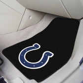 """Indianapolis Colts 2-piece Carpeted Car Mats 17""""x27"""""""