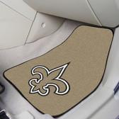 """New Orleans Saints 2-piece Carpeted Car Mats 17""""x27"""""""