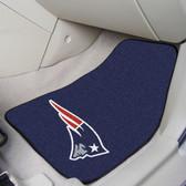 "New England Patriots 2-piece Carpeted Car Mats 17""x27"""
