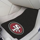 """San Francisco 49ers 2-piece Carpeted Car Mats 17""""x27"""""""