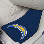 """San Diego Chargers 2-piece Carpeted Car Mats 17""""x27"""""""
