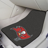 """Tampa Bay Buccaneers 2-piece Carpeted Car Mats 17""""x27"""""""