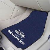 """Seattle Seahawks 2-piece Carpeted Car Mats 17""""x27"""""""