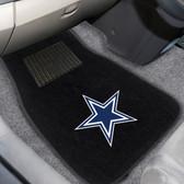 "Dallas Cowboys 2-piece Embroidered Car Mats 18""x27"""