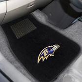 "Baltimore Ravens 2-piece Embroidered Car Mats 18""x27"""