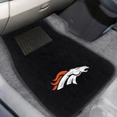 """Denver Broncos 2-piece Embroidered Car Mats 18""""x27"""""""
