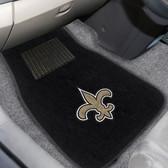 "New Orleans Saints 2-piece Embroidered Car Mats 18""x27"""