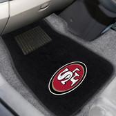 "San Francisco 49ers 2-piece Embroidered Car Mats 18""x27"""
