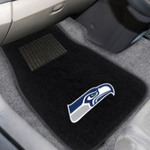 """Seattle Seahawks 2-piece Embroidered Car Mats 18""""x27"""""""