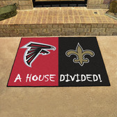 "Atlanta Falcons - New Orleans Saints House Divided Rugs 33.75""x42.5"""