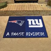"""New England Patriots - New York Giants House Divided Rugs 33.75""""x42.5"""""""