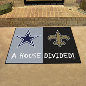"""Dallas Cowboys - New Orleans Saints House Divided Rugs 33.75""""x42.5"""""""