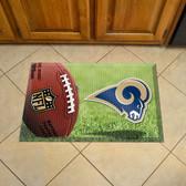 """St Louis Rams Scraper Mat 19""""x30"""" - Ball"""